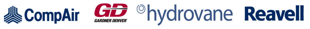 We are the main distributors of Compair and Hydrovane
